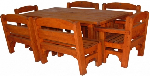 VC table Rural 2000x1100mm and 4x2 seaters and 2 chairs - $3520