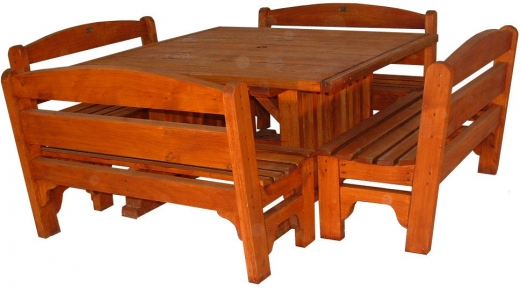 PC table Rural 1400x1400mm and 4x2 seaters - $3720