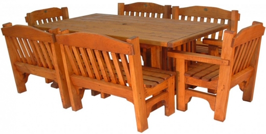 VC table Classic 2000x1100mm and 4x2 seaters and 2 chairs - $3520