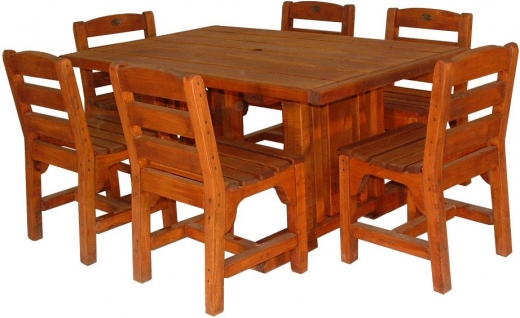 TC table 1500x930mm and 6 chairs - $2570