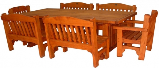 DX table Classic 2400x1100mm and 4x2 seaters and 2 chairs - $3940