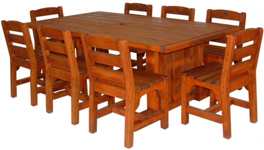 VC table 2000x1100mm and 8 dining chairs - $3840